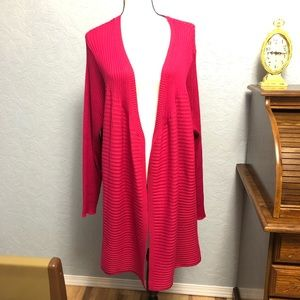 Lane Bryant Duster Open Front Cardigan Ribbed F31
